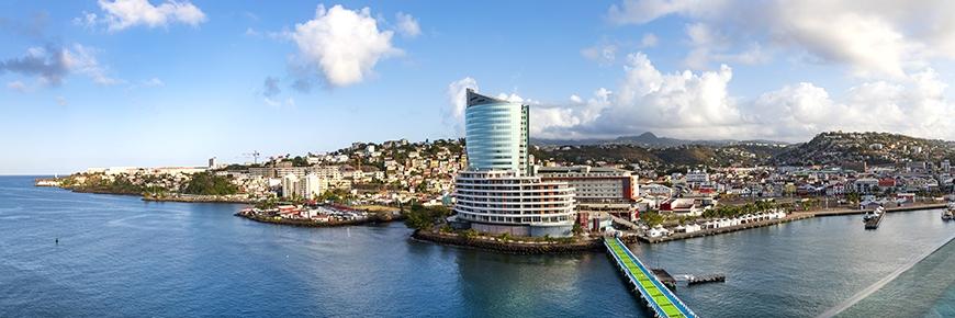 <p>Hafen von Fort de France, Martinique</p>