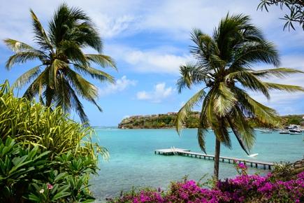 Martinique Meerblick Panorama