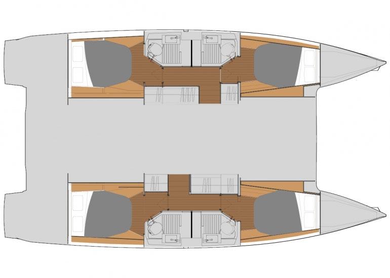 Riss / Kabinenplan - Astrea 42 Riss