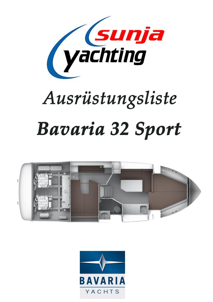 Ausrüstungsliste Bavaria 32 Sport