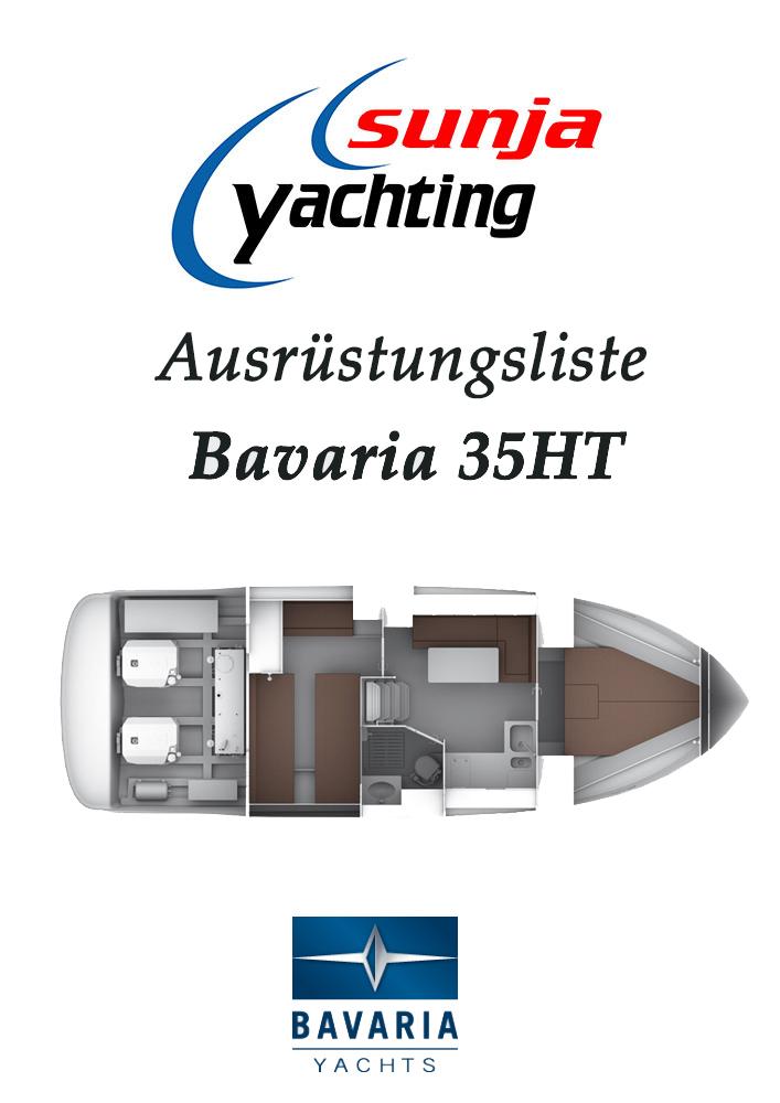 Ausrüstungsliste Bavaria 35 HT Motorboot