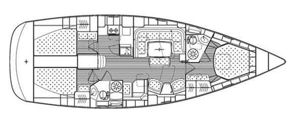 Bavaria 44 Vision Deckplan